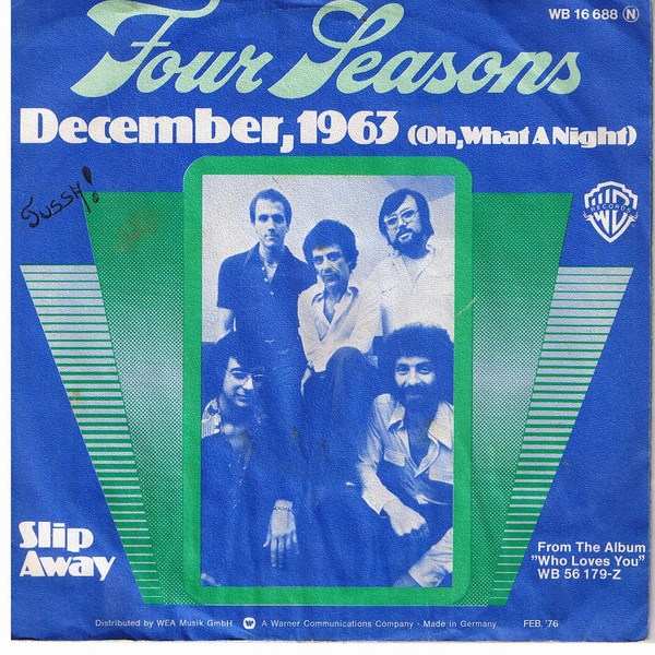WLCY Radio The Four Seasons - December, 1963 (Oh, What a Night)
